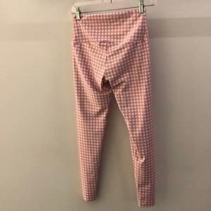 Onzie Pants - Onzie pink and white check legging, sz S\M, 68629